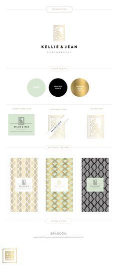 Branding Design for Kellie & Jean Photography | Luxury Branding, Logo, Original Pattern Design | Photographer Branding and Packaging  |  www.emilymccarthy.com