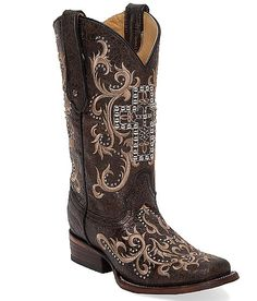 Corral Cross Square Toe Cowboy Boot at Buckle.com