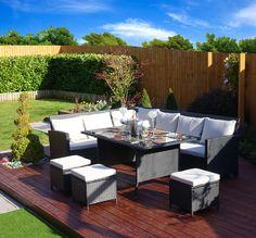 27 Best Rattan Garden Furniture Dining Sets Images Diners Rh Pinterest Com 9 Seater Corner Sofa Set