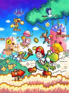 Yoshi (species) - Super Mario Wiki, the Mario encyclopedia Super Mario All Stars, Super Mario World, Yoshi, Super Mario Brothers, Super Mario Bros, Donkey Kong, Mundo Super Mario, Nintendo World, Nerd Crafts