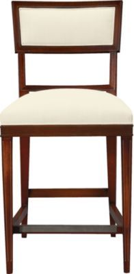 Ilsa Bar Stool (Open Panel) from Alexa Hampton Furniture Collection by Hickory Chair at Henredon Interior Design Cream Furniture, Bar Furniture, Furniture Upholstery, Furniture Styles, Modern Furniture, Kitchen Furniture, Furniture Design, Dining Room Chairs, Side Chairs