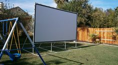 """""""The screen material was perfect. I made a frame for it using PVC and ideas from your site and on BackyardTheater.com. I watched """"Tron"""" on it and it was fantastic. I am really happy with the screen. You did a great job, it is the exact size that I asked for. Thanks for the great product and service."""" —Pat D. 