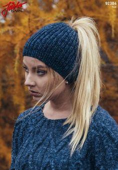 vr, 2 r sm*, gjenta * - * ut omg = 44 m på p. Free Knitting, Baby Knitting, Princess Hat, Fun Hobbies, Knitted Gloves, Hat Making, Ponytail, Knit Crochet, Winter Hats