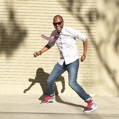 """Young Urban Creatives""    Silk Tie - @Theory__ Cotton Oxford - @SplendidLA  Skinny 1969 Jeans - @Gap Hi-Top Dunks - @Nike Time Piece - @Timex Bracelets - @Etsy"