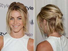 Knotted For a unique twist on a typical half-pony, tie your hair into a knot at the back! This style works best on shorter hair, since your layers will create a cool, tousled effect.