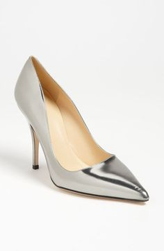 silver metallic pump - dress up for a party or dress dow with jeans - either way they will be a staple in the closet