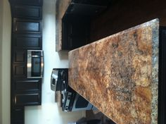 Kitchen counter. Love this color!
