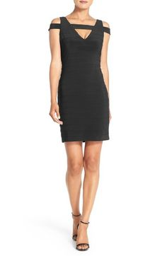 Adrianna Papell Cold Shoulder Knit Body-Con Dress available at #Nordstrom