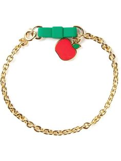 MARC BY MARC JACOBS 'Bow tie with apple' bracelet - £46 on Vein- getvein.com