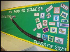 On the Road to College–change colleges to high school success tips On the Road to College–change colleges to high school success tips – College Scholarships Tips Counselor Bulletin Boards, College Bulletin Boards, College Board, High School Counseling, High School Classroom, School Counselor, Classroom Ideas, Education College, Elementary Schools