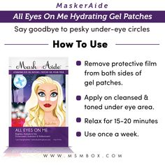 MaskerAide All Eyes On Me Hydrating Gel Patches Say goodbye to those pesky under-eye circles