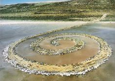 Robert Smithson. Spiral Jetty. Earthwork installation. 1970. Utah. Inspired by ancient monoliths like Stonehenge and Native American mound builders.