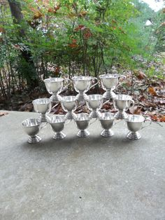 Vintage Silver Punch Cups Silver Plate Wedding Decor by misshettie, $46.00