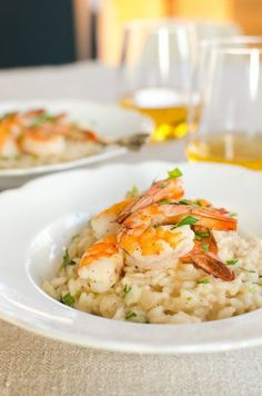 Recipe for Two (or More): Parmesan Risotto with Roasted Shrimp Recipes from The Kitchn   The Kitchn