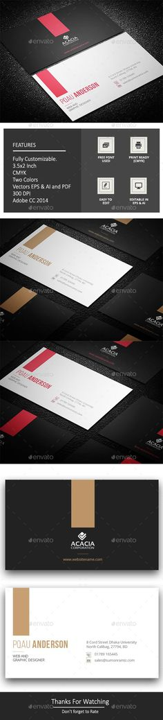 Ekdom Business Card - #Corporate #Business #Cards Download here: https://graphicriver.net/item/ekdom-business-card/19209335?ref=alena994