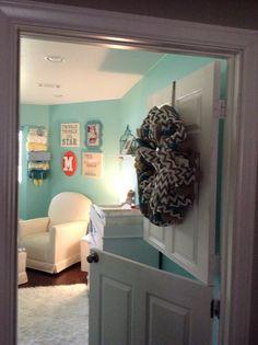 Cut a door for a nursery/playroom, how cool!