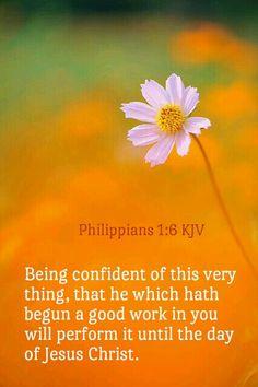 Philippians 1:6 KJV