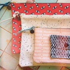 Screen-printed leather pouches for just about anything, handmade by the girls at More awesome patterns online! Mk Purse, Leather Pouch, Textile Prints, Clutch Wallet, Print Patterns, Screen Printing, Urban Outfitters, Fabric, Handmade