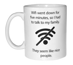 Wifi Quote Funny Coffee or Tea Mug - Geek and Computer Nerd Gift >>> Details can be found by clicking on the image.