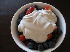 Raw Vegan Whipped Cream - I'm going to have to try this