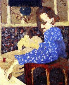 The Blue Sleeve-Edouard Vuillard - 1893