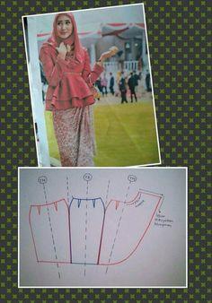 Skirt Patterns Sewing, Blouse Patterns, Clothing Patterns, Gown Pattern, Pants Pattern, Fashion Sewing, Diy Fashion, Pola Rok, Modelista