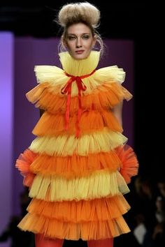 REALLY?! someone walked the runway in this?! its hideous!
