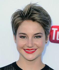 Shailene Woodley Hairstyles Collection 2015 : Shailene Woodley Black White Highlight Haircut 2015