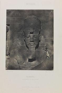 Temple of Ramses II, Egypt, circa 1850.