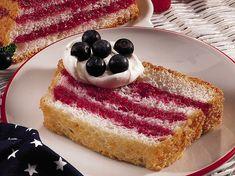 Angel Food Flag Cake