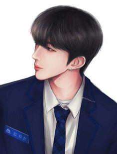 First Art, Kpop Fanart, Fan Art, Produce 101, Idol, Fans, Cartoon, Star, Wallpaper