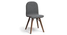 Mecana Steel Gray Walnut Dining Chair