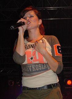 Marta Jandová (1974). Die Happy, composer & singer. Her World, Singer, Happy, T Shirt, Tops, Women, Fashion, Gorgeous Women, Music