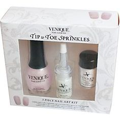 Venique Tip to Toe Sprinkles 3 Piece Nail Art Kit - White *** Continue to the product at the image link.
