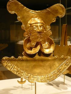 Pectoral Ornament Colombia Yotoco (Calima) 1st-7th century CE Hammered Gold