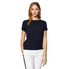Gant Women's Stripe Top Evening Blue