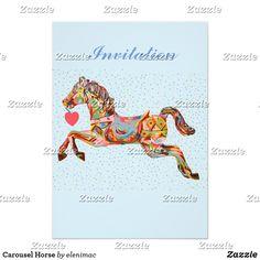 Carousel Horse Card