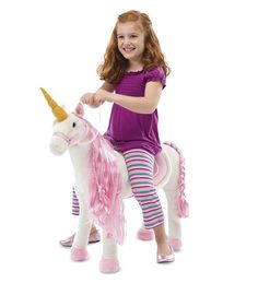 HearthSong #Fungifts #Gifts  Sit-Upon Unicorn -Fun Gifts via- http://www.AmericasMall.com/hearthsong-gifts