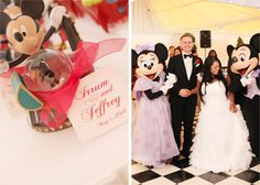 Mickey Mouse and Minnie Mouse at a Disneyland Hotel wedding - Magical Day Weddings  (A Wedding Atlas Fan Site for Disney Weddings)