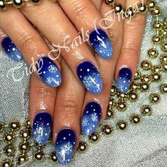 snowflakes by tidynailswaterford  #nail #nails #nailart