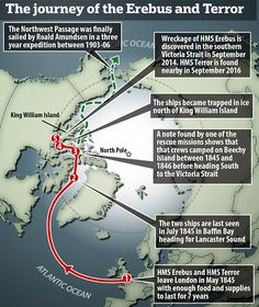 HMS Erebus and HMS Terror were sent out in the summer of 1845 to find the…