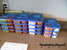 prep all school lunches/snacks etc....on Sunday for the whole week, just have to add main entree the night before!!! Ziploc Divided Containers