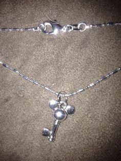 "Tibetan Silver Disney Micky Mouse Key Pedant & 16"" Hexagonal Necklace Valentines #Unbranded #Pendant"