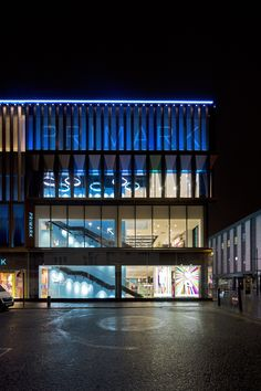 Primark, Newcastle.   The design re-models an imposing 4-5 storey reinforced concrete structure constructed for C&A Modes & British Home Stores in 1974 by opening up the existing building envelope to promote active frontage and improve access at street level to both principal elevations.