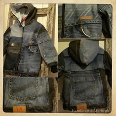 Handkraft & Återbruk - Reclaimed jeans childrens jacket