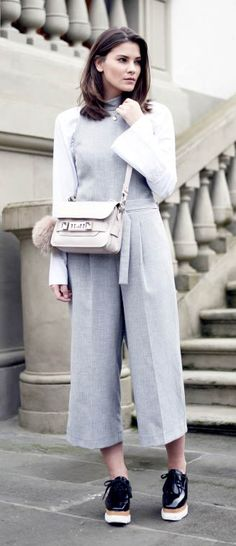 grey jumpsuit | street style | proenza schouler ps 11 | street style | high style