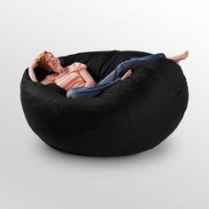 Cocoon Foam Bean Bag Chair - looks so comfy! First Home, Chair Design, Bean Bag Chair, Comfy, Design Styles, Design Ideas, Interior Design, Living Room, Bean Bags