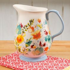 Shop for Pioneer Woman Harvest Kitchen Extras. Buy products such as The Pioneer Woman Pioneer Vintage Floral Inch Organizer at Walmart and save. Ethel Merman, Pioneer Woman Kitchen, Flea Market Decorating, Decorating Ideas, Beautiful Bouquet Of Flowers, Ceramic Pitcher, Ree Drummond, Rustic Charm, Panel Curtains