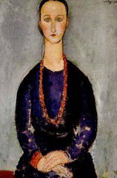 Amedeo Modigliani (1884-1920,Italian) painted 1918