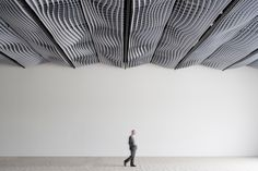 WAVE Acoustic absorber ceiling - Ceiling systems by Wave   Architonic